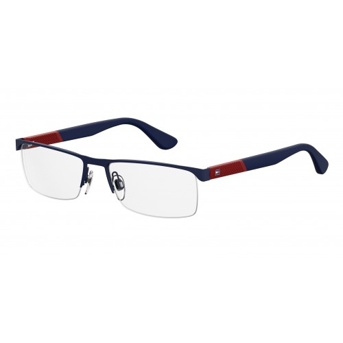 Tommy Hilfiger Okulary korekcyjne damskie TH1562 FLL - czerwony, niebieski