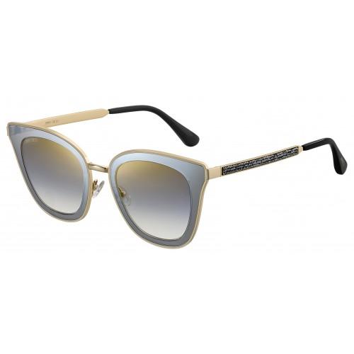Jimmy Choo Okulary przeciwsłoneczne damskie LORY/S 2 MFQ - czarny, złoty, szary, filtr UV 400