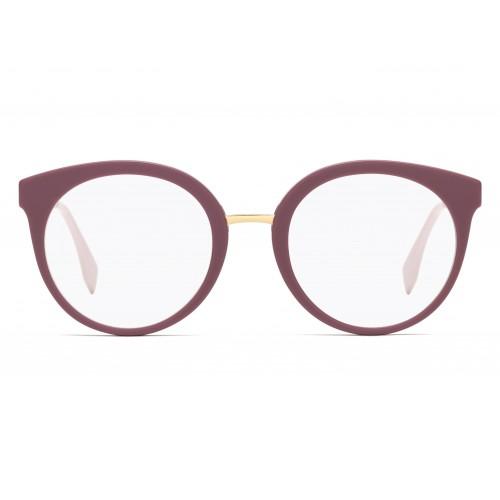 Fendi Oprawa okularowa damska FF0303 35J - złoty, różowy