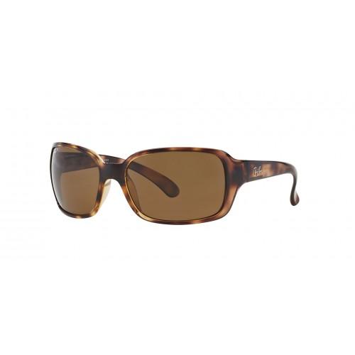 Ray Ban Okulary przeciwsłoneczne damskie RB 4068 642 - brązowy, filtr UV 400, polaryzacja