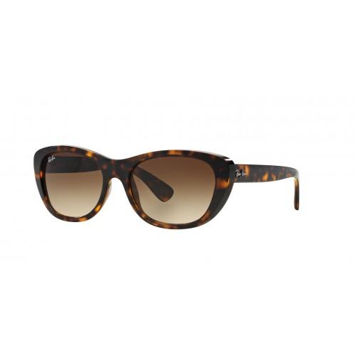 Ray Ban Okulary przeciwsłoneczne damskie RB 4227 710 - czarny, brązowy, filtr UV 400