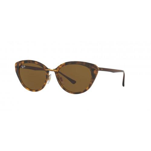 Ray Ban Okulary przeciwsłoneczne damskie RB 4250 710 - czarny, brązowy, filtr UV 400