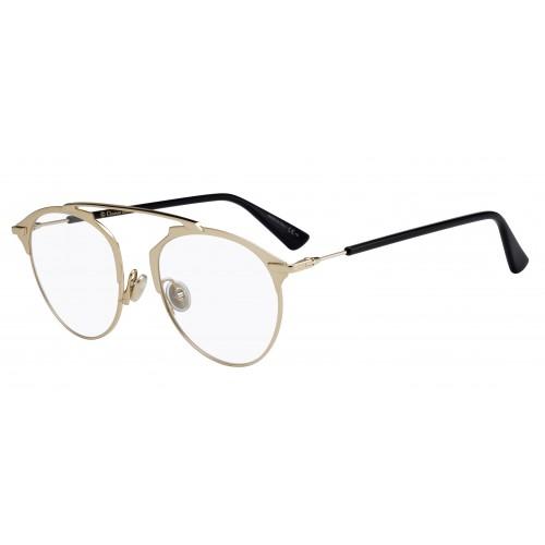 DIOR Okulary korekcyjne damskie SoReal O J5G - złoty