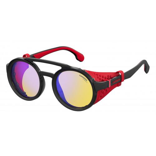 CARRERA Okulary przeciwsłoneczne damskie 5046S 003/HW - czarny, czerwony, filtr UV 400