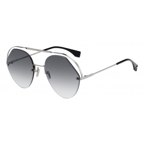 Fendi Okulary przeciwsłoneczne damskie FF0326/S KB790 - srebrny, szary, filtr UV 400