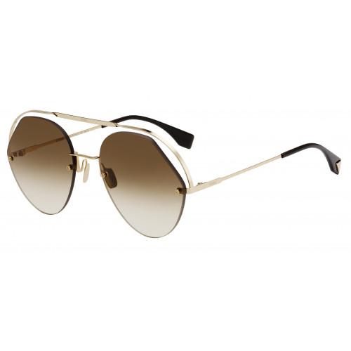 Fendi Okulary przeciwsłoneczne damskie FF0326/S 09QHA - złoty, brązowy, filtr UV 400
