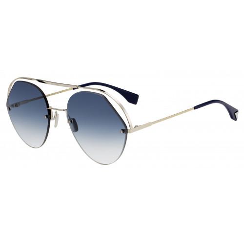 Fendi Okulary przeciwsłoneczne damskie FF0326/S PJP08 - srebrny, niebieski, filtr UV 400
