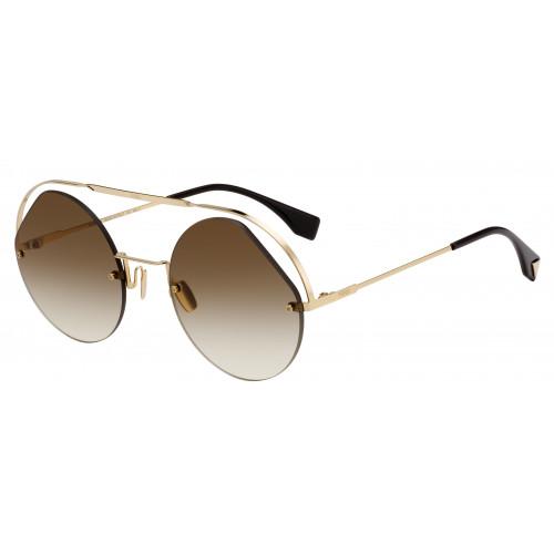 Fendi Okulary przeciwsłoneczne damskie FF0325/S 09QHA - złoty, brązowy, filtr UV 400