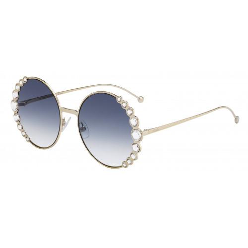 Fendi Okulary przeciwsłoneczne damskie FF0324/S 3YG08 - złoty, granatowy, filtr UV 400