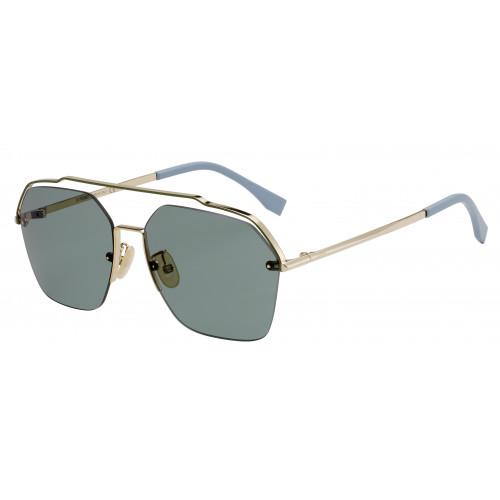 Fendi Okulary przeciwsłoneczne męskie FFM0032/S J5GO7 - srebrny, niebieski, filtr UV 400