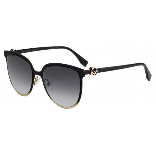 Fendi Okulary przeciwsłoneczne damskie FF0328G/S 80790 - czarny, złoty, filtr UV 400