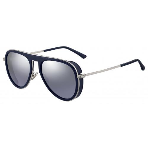 Jimmy Choo Okulary przeciwsłoneczne damskie CARL/S PJP96 - srebrny, granatowy, filtr UV 400