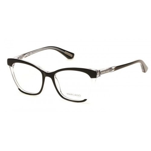 GUESS Oprawa okularowa damska by Marciano GM0287 003 - czarny, transparentny