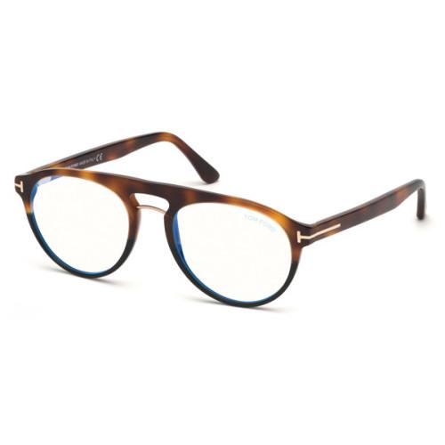 Tom Ford Okulary korekcyjne męskie TF5587-B 053 - brązowy, szylkret