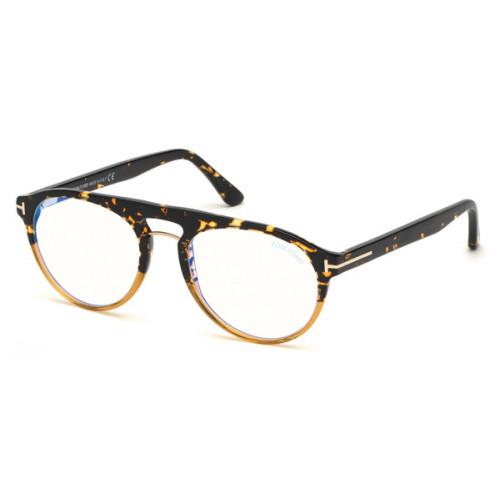 Tom Ford Okulary korekcyjne męskie TF5587-B 055 - brązowy, szylkret