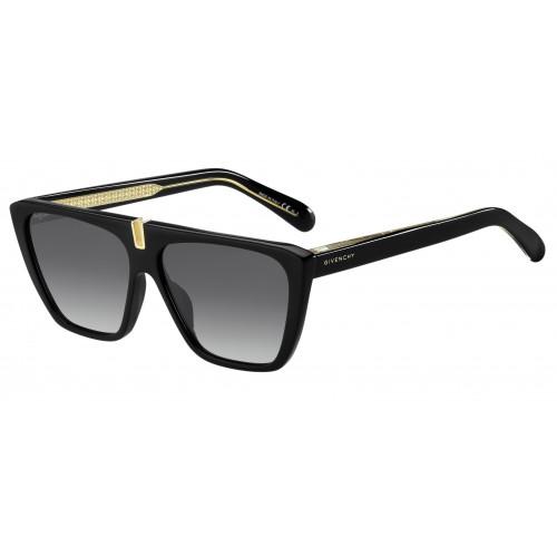 Givenchy Okulary przeciwsłoneczne damskie GV 7109/S 8079O - czarny, złoty, filtr UV 400