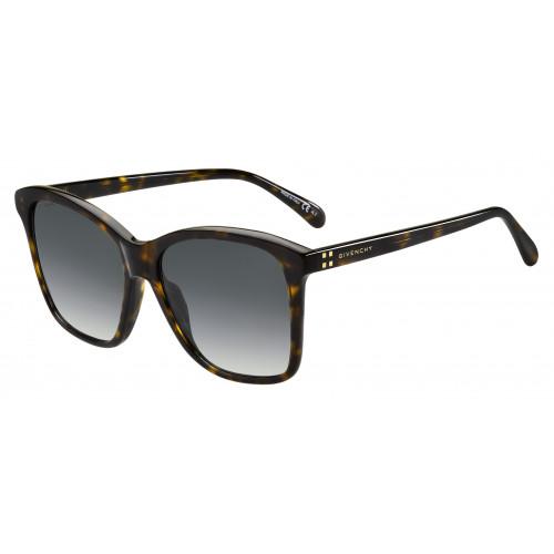 Givenchy Okulary przeciwsłoneczne damskie GV 7108/S 0869O - brązowy, szylkret, filtr UV 400