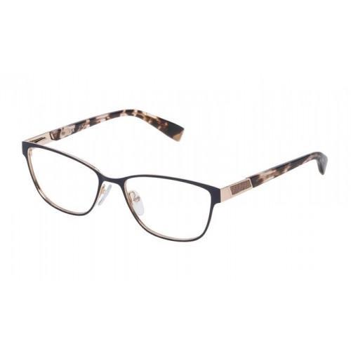 Furla Okulary korekcyjne damskie VFU087 H06/16 - czarny, brązowy