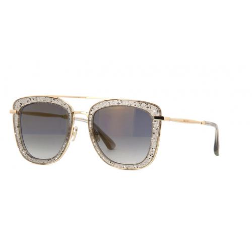 Jimmy Choo Okulary przeciwsłoneczne damskie GLOSSY/S KB7FQ - złoty, filtr UV 400