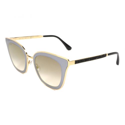 Jimmy Choo Okulary przeciwsłoneczne damskie LORY/S 2M2FQ - złoty, szary, filtr UV 400