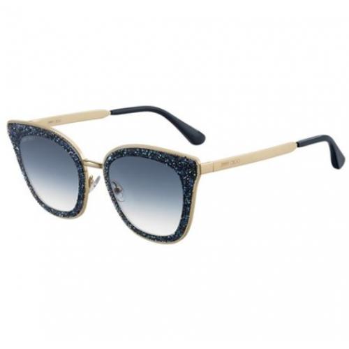 Jimmy Choo Okulary przeciwsłoneczne damskie LIZZY/S KY208 - złoty, granatowy, filtr UV 400