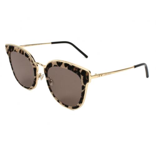 Jimmy Choo Okulary przeciwsłoneczne damskie NILE/S XMG2M - złoty, szylkret, filtr UV 400
