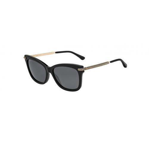 Jimmy Choo Okulary przeciwsłoneczne damskie SHADE/S 807IR - czarny, złoty, filtr UV 400