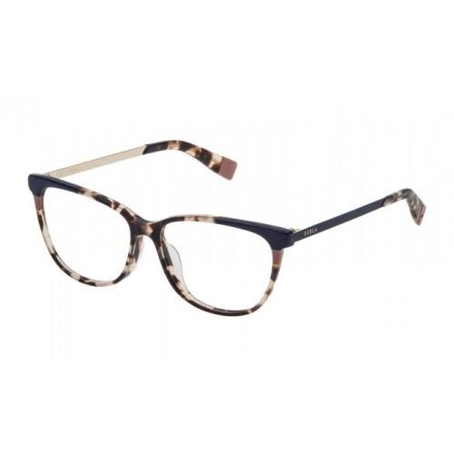Furla Okulary korekcyjne damskie VFU133 06PL - niebieski