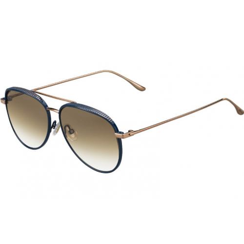 Jimmy Choo Okulary przeciwsłoneczne damskie RETO/S OOZ XY - złoty, granatowy, filtr UV 400