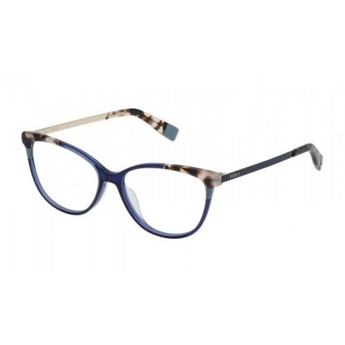 Furla Okulary korekcyjne damskie VFU134 0T31 - niebieski