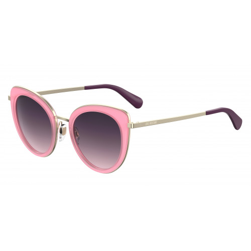 MOSCHINO MOL006/S 35JO9. Materiał oprawy: metal. Kolor: srebrny, różowy. Okulary przeciwsłoneczne