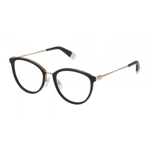 Furla Okulary korekcyjne damskie VFU202 0700 - czarny, złoty
