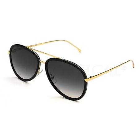 Fendi FF0155/S MY2JJ. Materiał oprawy: metal. Kolor: złoty. Okulary przeciwsłoneczne