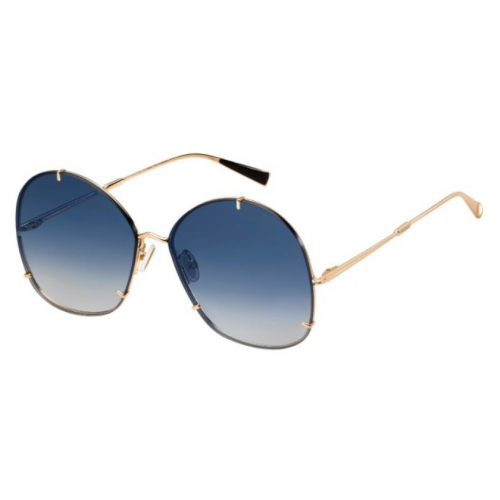 MaxMara MM HOOKS 00008. Materiał oprawy: metal. Okulary: złoty, niebieski. Okulary przeciwsłoneczne