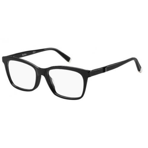 MaxMara MM 1274 807. Materiał oprawy: acetat. Kolor: czarny. Okulary korekcyjne