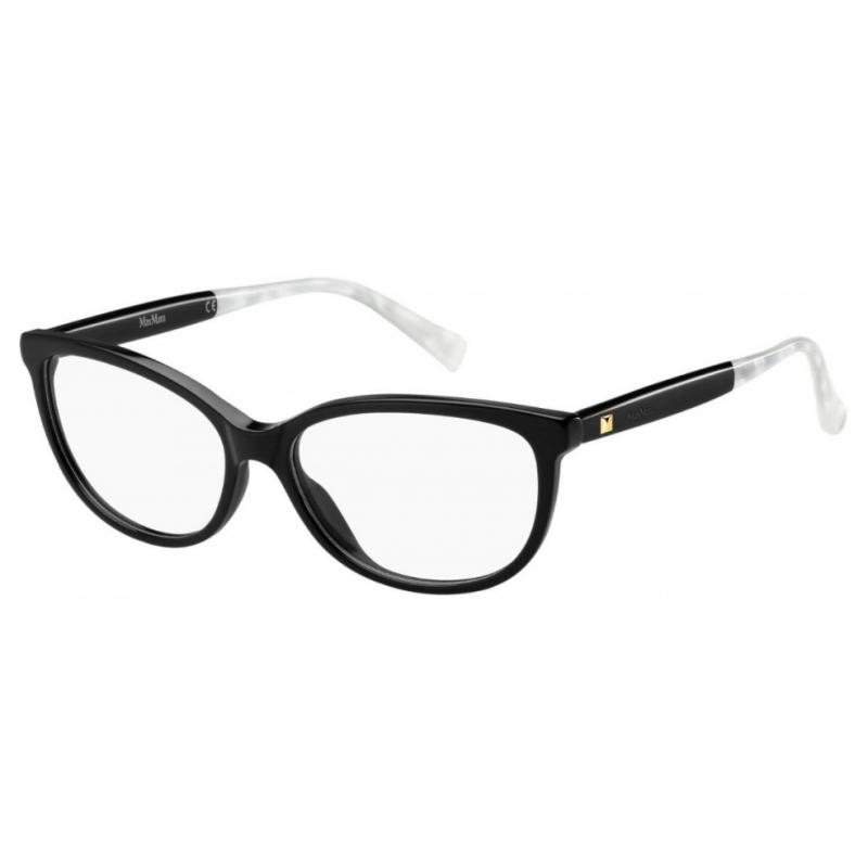 MaxMara MM 1266 807. Materiał oprawy: acetat. Kolor: czarny, transparentny. Okulary korekcyjne