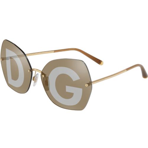 Dolce & Gabbana DG2204 02/04. Materiał oprawy: metal. Kolor: złoty. Okulary przeciwsłoneczne