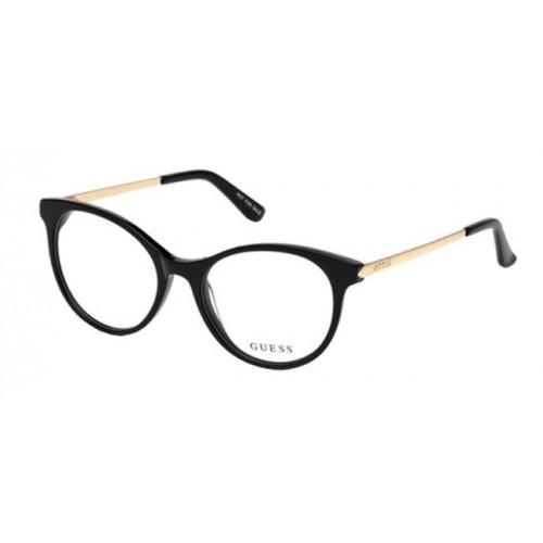 Guess GU2680 001. Materiał oprawy: tworzywa sztuczne. Kolor: czarny, złoty. Okulary korekcyjne