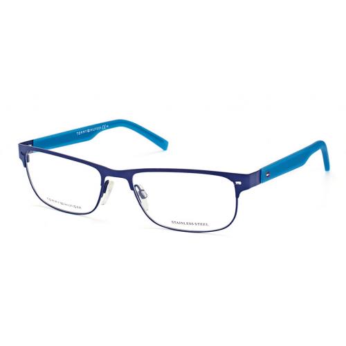 Tommy Hilfiger TH 1402 R53. Materiał oprawy: metal. Kolor: niebieski. Okulary korekcyjne