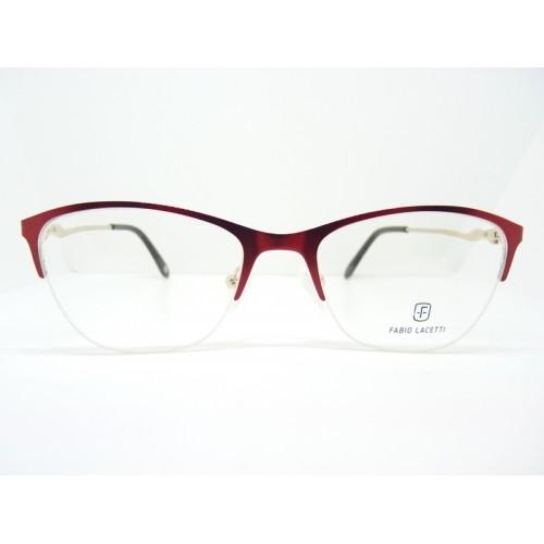 Fabio Lacetti Okulary korekcyjne damskie 93054RW-A col.02 - czerwony