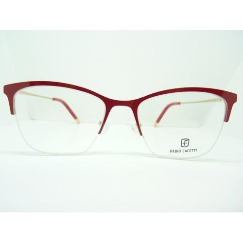 Fabio Lacetti Okulary korekcyjne damskie 93059RW col.02 - czerwony