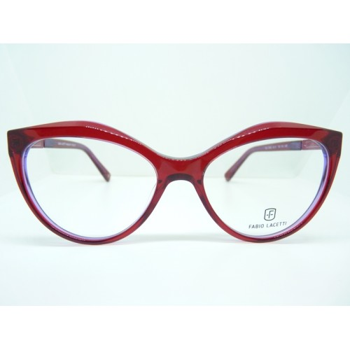 Fabio Lacetti Okulary korekcyjne damskie 95002 col.03 - czerwony