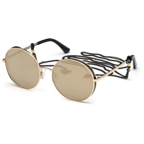 GUESS Okulary korekcyjne damskie GU7606  32G - złoty, brązowy