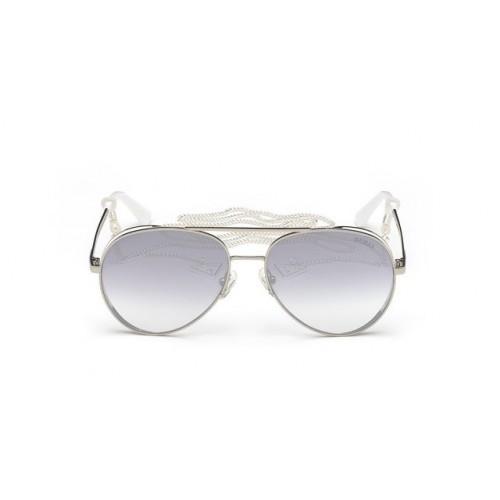 GUESS Okulary korekcyjne damskie GU7607  20C - srebrny