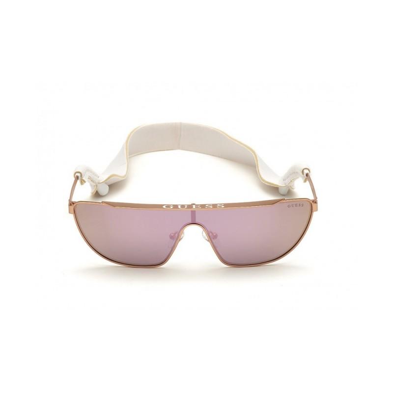 GUESS Okulary korekcyjne damskie GU7677 28U srebrny