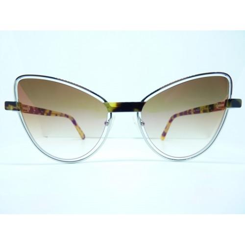 JPLUS Okulary przeciwsłoneczne damskie 3054-04 - srebrny, szylkret, filtr UV 400