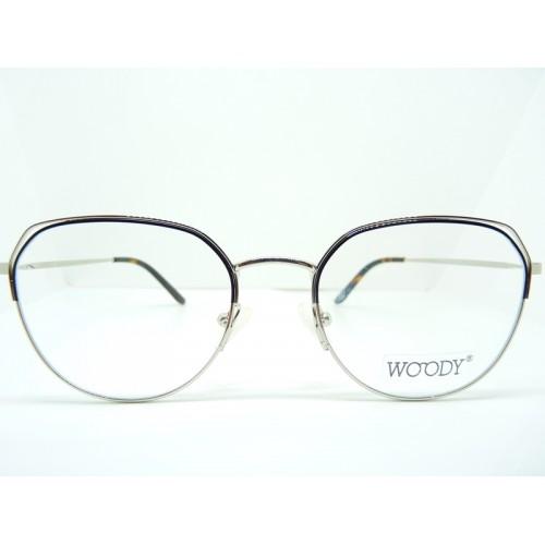 WOODY Oprawa okularowa damska 9472 c02 - czarny, srebrny