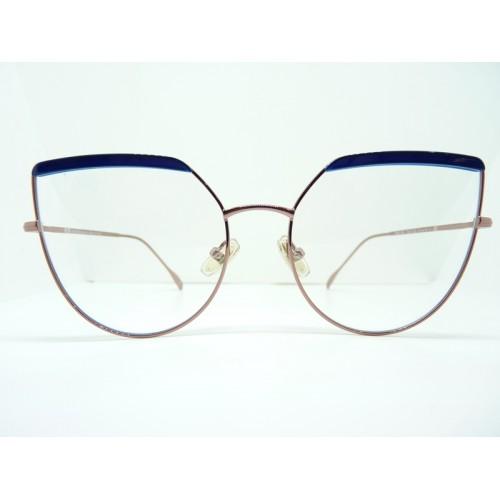 JPLUS Okulary korekcyjne damskie OPRAH 1026-04 - miedziany