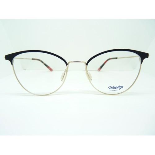 Woodys Okulary korekcyjne damskie Bamboo 0.1 - złoty