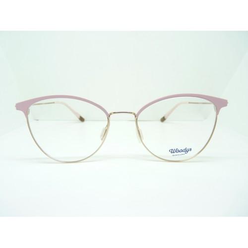 Woodys Okulary korekcyjne damskie Bamboo 0.2 - różowy